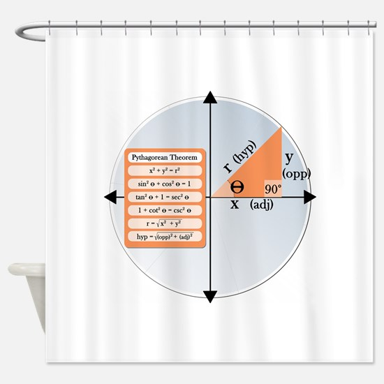 Pythagorean Theorem Shower Curtain