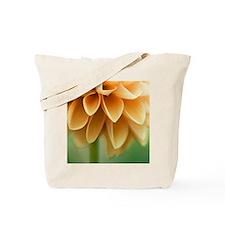 Closeup of orange Dalia flower petals. Tote Bag