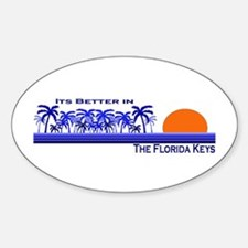 Its Better in the Florida Key Oval Decal