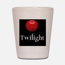 Twilight Lettering with Red Apple Shot Glass