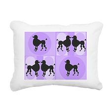 Retro poodle bag purple Rectangular Canvas Pillow