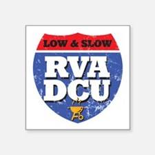 """RVA DCU Low and Slow Color  Square Sticker 3"""" x 3"""""""