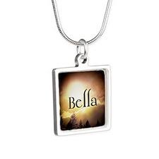 Bella Twilight Forks  Silver Square Necklace