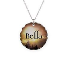 Bella Twilight Forks  Necklace Circle Charm