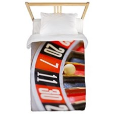Close-up of roulette wheel Twin Duvet