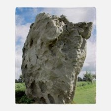 Neolithic standing stone Throw Blanket