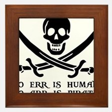 Witty Pirate Framed Tile