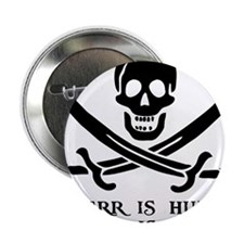 "Witty Pirate 2.25"" Button"