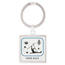 yardsaleCPwht Square Keychain