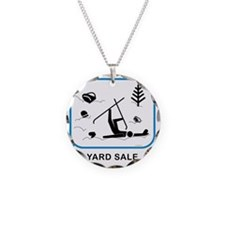 yardsaleCPwht Necklace Circle Charm