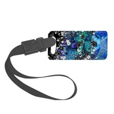 Peacock Peacock Feather Flower G Luggage Tag