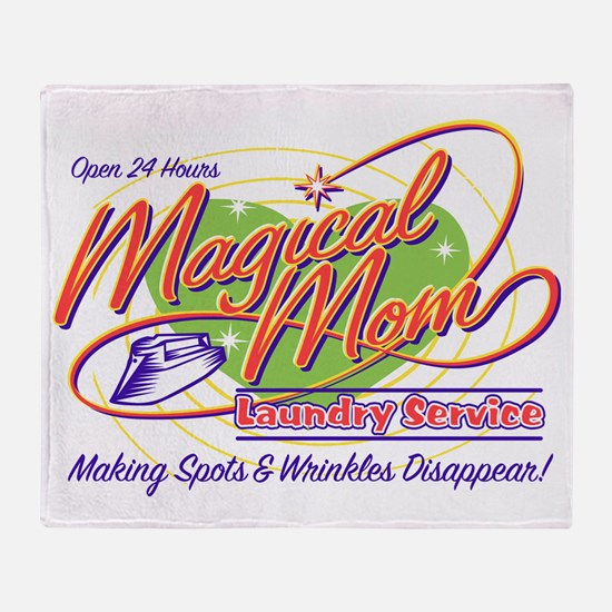 Magical Mom Laundry Throw Blanket