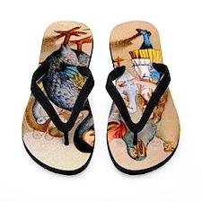 Alice  the Dodo_10x14 Flip Flops