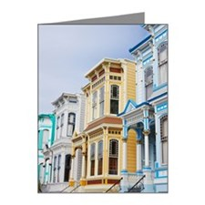 colorful Victorian home in M Note Cards (Pk of 20)