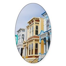 colorful Victorian home in Mission  Decal