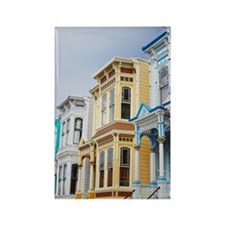colorful Victorian home in Missio Rectangle Magnet