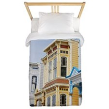 colorful Victorian home in Mission Dist Twin Duvet