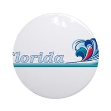 Florida Ocean Wave Ornament (Round)