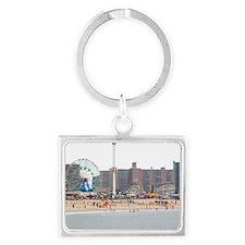 Coney Island, New York Landscape Keychain