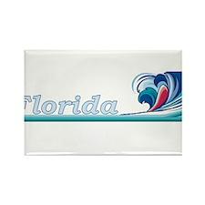 Florida Ocean Wave Rectangle Magnet
