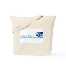 Florida Ocean Wave Tote Bag