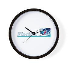 Florida Ocean Wave Wall Clock