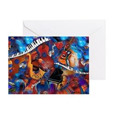 Guitar Jazz Music Magic Greeting Card