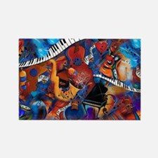 Guitar Jazz Music Magic Rectangle Magnet