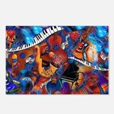 Guitar Jazz Music Magic Postcards (Package of 8)