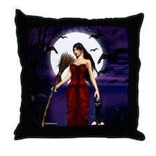 Under a Pagan Moon Throw Pillow
