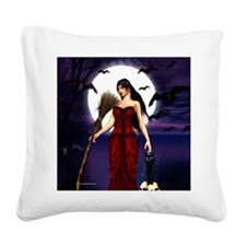 Under a Pagan Moon Square Canvas Pillow