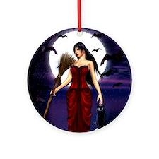 Under a Pagan Moon Round Ornament