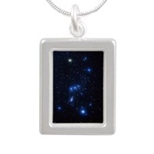 Orion constellation Silver Portrait Necklace