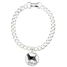 beagle nosework nathan  Charm Bracelet, One Charm