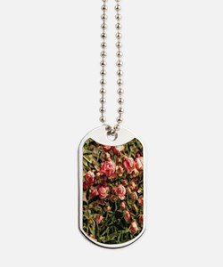 pink rose bouquet Dog Tags