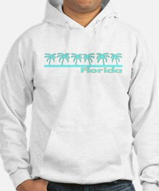 Florida Turquoise Palm Jumper Hoody