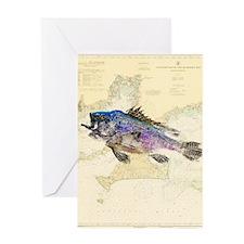 Buzzards Bay Sea Bass Greeting Card