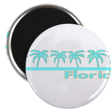 """Florida Turquoise Palm 2.25"""" Magnet (10 pack)"""