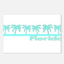 Florida Turquoise Palm Postcards (Package of 8)