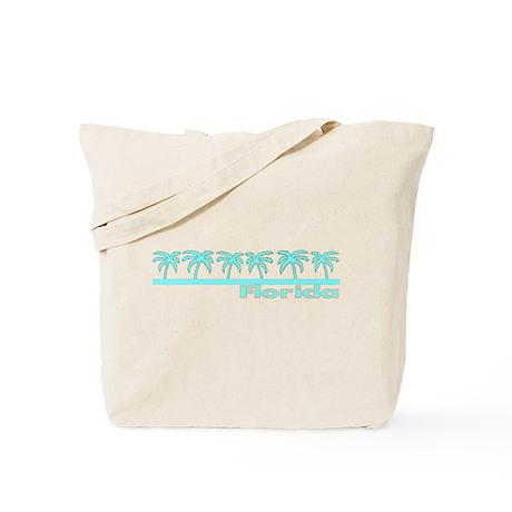 Florida Turquoise Palm Tote Bag