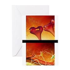 Oligodendrocyte and microglia brain  Greeting Card