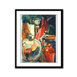 Still Life w/Bottle by Elsie Framed Panel Print