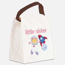 Astronaut Little Sister Canvas Lunch Bag