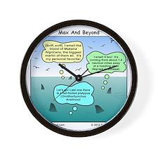 Sharks and Marlin Cartoon Wall Clock