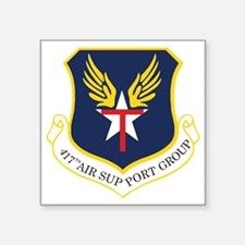 "417th ASG TXSG Square Sticker 3"" x 3"""