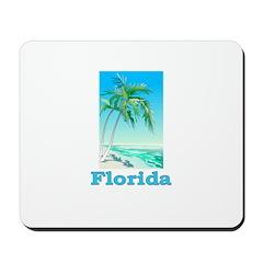 Florida Blue Beach Mousepad