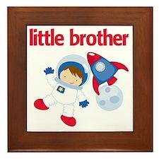 Astronaut Little Brother Framed Tile