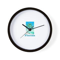 Florida Blue Beach (Dark) Wall Clock
