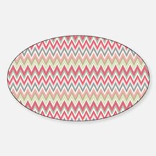 chevron rug 5 x 7 Sticker (Oval)