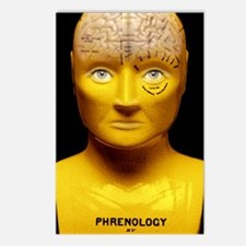 Phrenology bust Postcards (Package of 8)